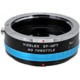 Vizelex ND Throttle Lens Mount Adapter - Canon EOS (EF / EF-S) D/SLR Lens to Micro Four Thirds (MFT, M4/3) Mount Mirrorless Camera Body, with Built-In Variable ND Filter (2-Stop to 8-Stops)
