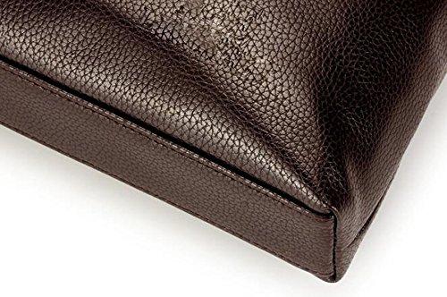 Business Bag Leather Cross Style Messenger Computer Handbag Casual Briefcase Men Brown 's Shoulder Soft pfq00n