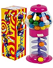 """PlayO 7"""" Spiral Gumball Machine Toy - Kids Dubble Bubble Twirling Style Galaxy Candy Dispenser - Birthday Parties, Novelties, Party Favors and Supplies"""