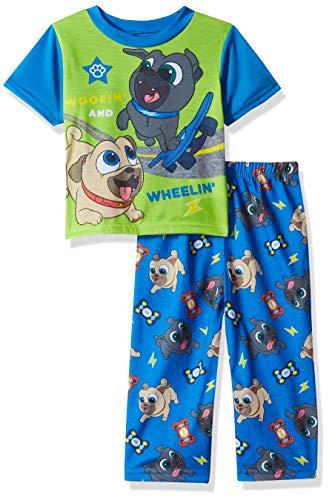 (Disney Boys' Toddler Puppy Dog Pals 2-Piece Pajama Set, Woofin' Around, 4T)