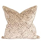 Howard Elliot 3-573F 24 x 24 in. Davida Kay Savile Sand Pillows - Down Insert