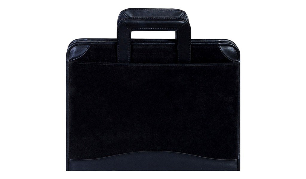 Scully Leather Zip Binder With Drop Handles Suede 96Z,Black,US