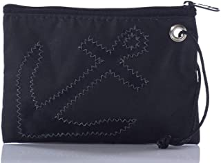 product image for Sea Bags Recycled Sail Cloth Sea Bags Black-on-Black Anchor Wristlet