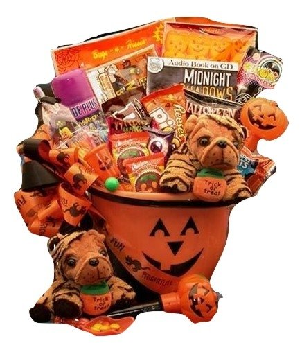 Frightfully Fun Trick or Treat Halloween Gift Basket for Boys and Girls   Treats and Toys for Halloween