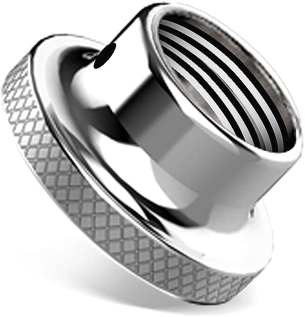 2.5cm Silver Nuts LEADNOVO Iron Nuts for Dumbbell Barbell