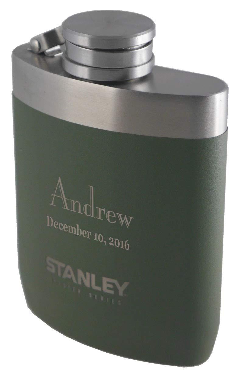 一番人気物 Personalized Personalized Stanleyマスターシリーズオリーブグリーン8オンスフラスコwith B079X9581F Freeレーザー彫刻 B079X9581F, スカーフ専科:e3e2929d --- a0267596.xsph.ru