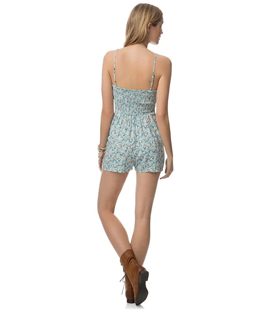 96967413f2f Amazon.com  Aeropostale Womens Floral Romper Jumpsuit Blue XL - Juniors   Clothing