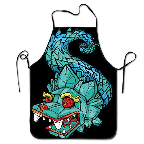 Novelty Green Stone Dragon Unisex Kitchen Chef Apron - Chef Apron For Cooking,Baking,Crafting,Gardening And BBQ