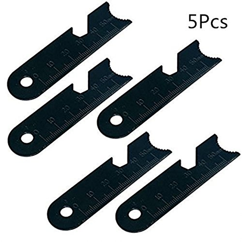 Wakaka 5Pcs Striker Scraper-Work As Concave Serrated End, Hex Wrench,Bottle Opener and Ruler.Use With Ferro Rod Made of Carbon Steel