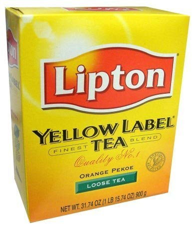 450g Tea - Lipton Yellow Label Orange Pekoe Loose Tea 31.74 Oz,1Lb by Lipton