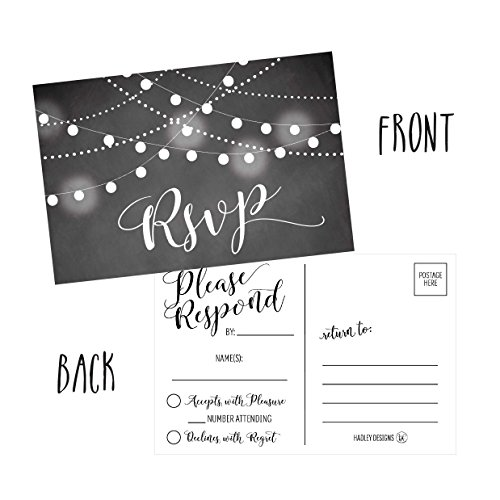50-Blank-Chalkboard-RSVP-Cards-RSVP-Postcards-No-Envelopes-Needed-Response-Card-RSVP-Reply-RSVP-kit-for-Wedding-Rehearsal-Baby-Bridal-Shower-Birthday-Plain-Bachelorette-Party-Invitations