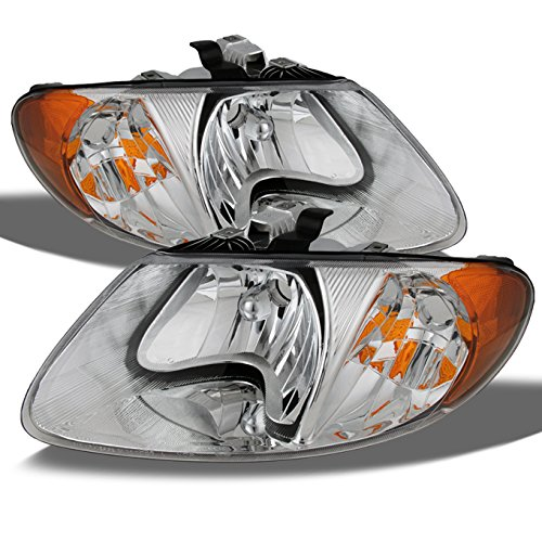 chrysler-town-country-oe-replacement-chrome-bezel-headlights-driver-passenger-head-lamps-pair-new