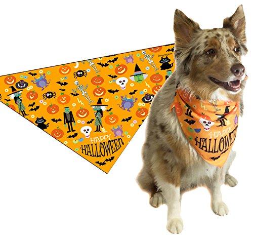 Stonehouse Collection Halloween Dog Bandana - Medium to Large -