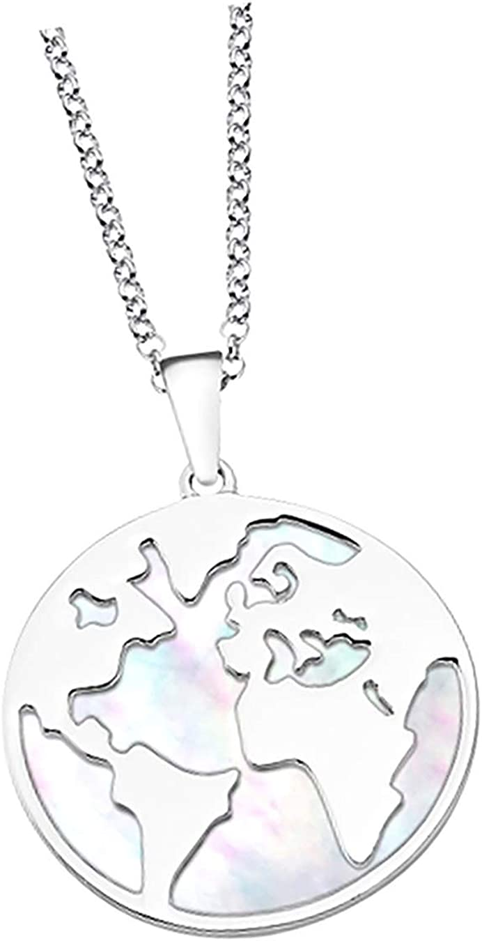 Lotus Silver LP1949-1/1 D3JLP1949-1-1 - Collar de plata de ley 925 con perlas nacaradas para mujer