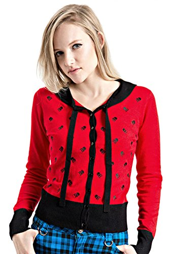 Jawbreaker-Skull-Gothic-Pin-Up-Cardigan-Sweater