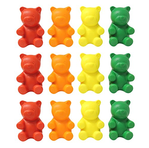 Gummy Bear Toy (Curious Minds Busy Bags 12 Gummy Bear Candy Stress Balls - Bulk 1 Dozen - Fidget Set for Students, Adults and Children Office Calming)