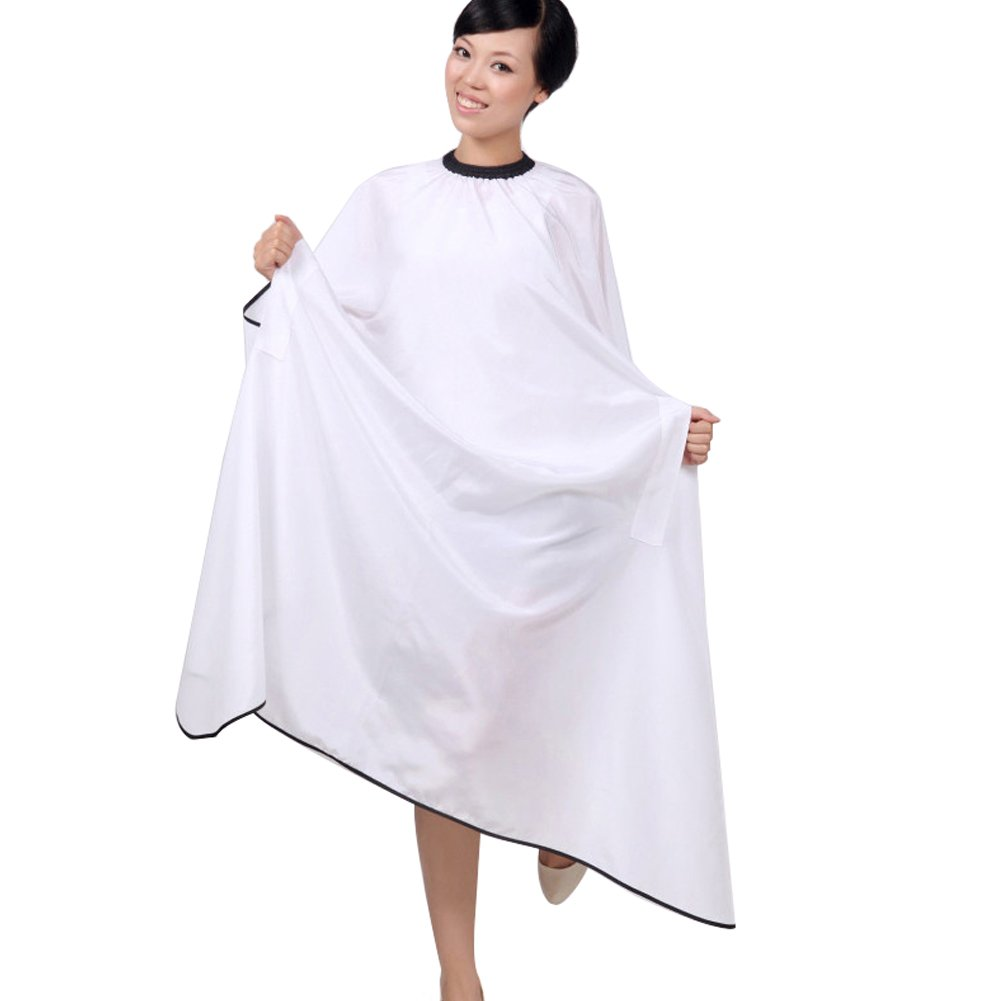 OLizee Hair Cut Hairdressing Cape Cloth Apron Stretch Out Hand Waterproof Salon Barber Gown 57 x 63, (Black)