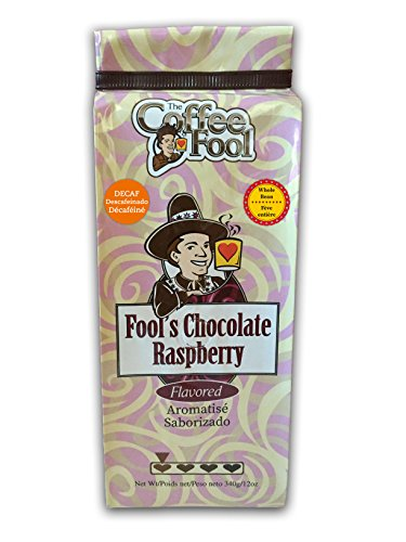 The Coffee Fool Fool's Whole Bean, Decaf Chocolate Raspberry, 12 Ounce (Coffee Fool Decaf Whole Bean compare prices)