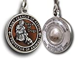 The Christian Mint, LLC St. Francis of Assisi Enameled Pet Medal with Capsule of Assisi Soil (Brown)