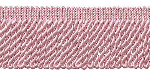 Bullion Trim - DÉCOPRO 10 Yard Value Pack of Pink 2.5 Inch Bullion Fringe Trim, Style# EF25 Color: K11 (30 Ft / 9 Meters)