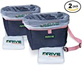 Automotive : Car Trash Cans, Pink (2-Pack) by Drive Auto Products - Best Garbage Bag for Litter, FREE Waste Basket Liners - Hanging Recycle Kit is Universal & Waterproof, Travel Cooler, Road Trip Throw Receptacle