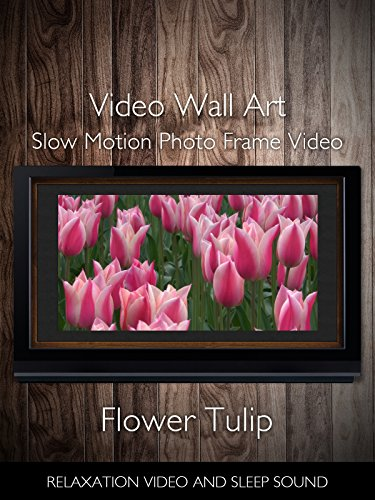 Video Wall Art Slow Motion Flower Tulip Photo Frame Video Relaxation Video and Sleep Sound Sleep Framed