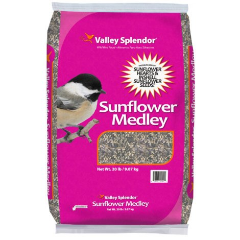 VALLEY SPLENDOR SUNFLOWER MEDLEY WILD BIRD FOOD 20 LBS. - Pack of (2) by Valley Splendor (Image #1)