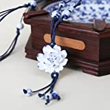 Best Winter's Secret Friend Keychain Moons - Winter's Secret Handmade Blue And White Porcelain Ceramic Review