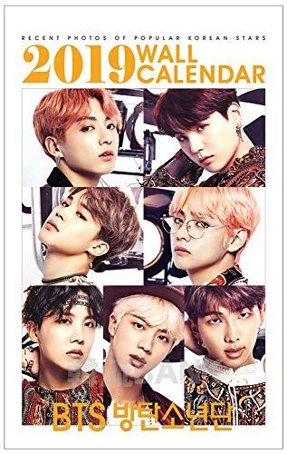 BTS (방탄 소년단) 2019년 (2019년) 포토 벽걸이 캘린더 상품 (2019 K-Star Photo Wall Calendar)