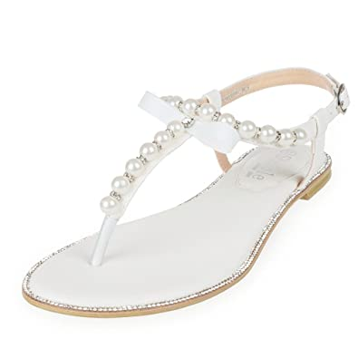 shesole womens flats wedding shoes dress sandals white us 6