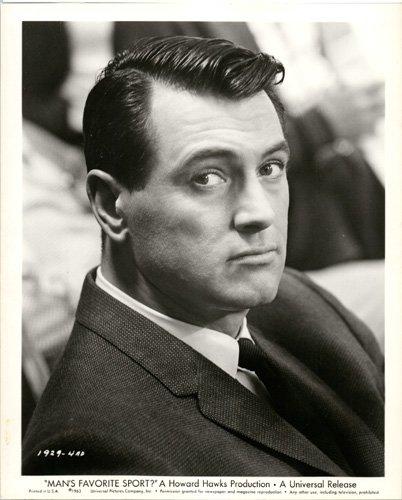 ROCK HUDSON 8x10 vintage original portrait photo 1963 MAN's FAVORITE SPORT ()