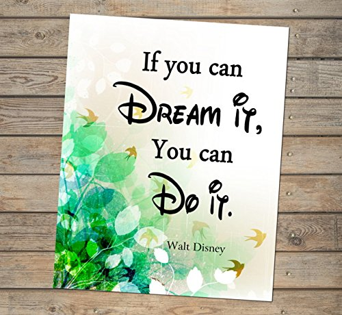 If You Can Dream It Do Walt Disney Quote Inspirational