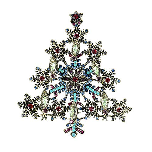 retro cosanter imitation snowflake jewelry pendant dual tree fashion scarf high buckle rhinestone pcs grade pin