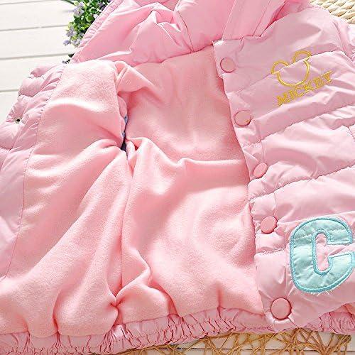 Toddler Baby Girl Kid Warm Cartoon Hooded Coat Puffer Jacket Snowsuit Outwear
