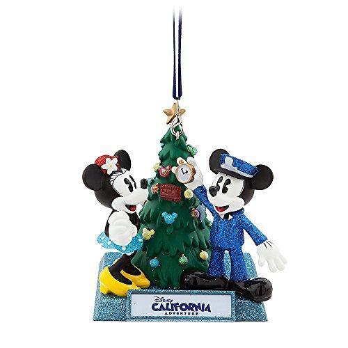 Disney California Adventure - Disney Mickey & Minnie Mouse Holiday Ornament - Disney California Adventure