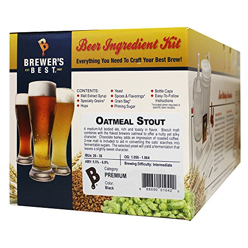 Brewer's Best HOZQ8-1381 Oatmeal Stout Beer Ingredient Kit, (Stout Ingredient Kit)