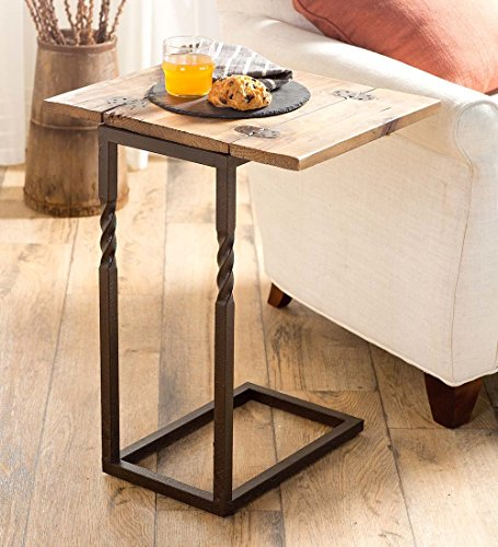 Plow Hearth Rustic Wood Pull-Up Table
