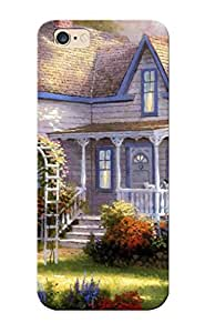 TYH - Case For Iphone 5C Tpu Phone Case Cover(art Painting Painting Garden Arch Front Home Garden Summer Artist Thomas Kinkade ) For Thanksgiving Day's Gift phone case