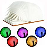 SUAYAN Folding Book Lights LED Lamp USB Charge Night Light RGB 5 Colors Cycle Table Lamp Bed Lamp Landscape Lamp