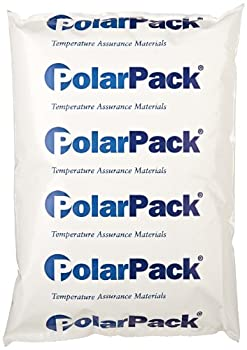 """ThermoSafe Polar Pack PP24 Refrigerant Gel Pack, 0°C Temperature, 8"""" L x 5.5"""" W x 1.25"""" H (Case of 24)"""
