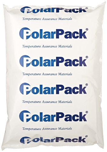 "ThermoSafe Polar Pack PP24 Refrigerant Gel Pack, 0°C Temperature, 8"" L x 5.5"" W x 1.25"" H (Case of 24)"