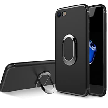 WATACHE Funda iPhone 8/7, Slim Magnetic Car Mount Soporte Giratorio 360 Degree Kickstand Funda Protectora a Prueba de Golpes TPU con Forma Flexible ...