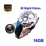 Hidden 16GB Watch Camera HD 1080P Infared Night Vision Mini Camera Wrist Smart