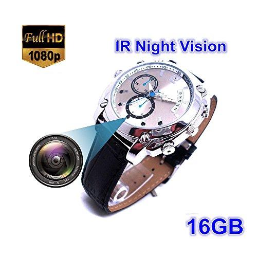 16Gb Hd 1080P Night Vision Waterproof Watch Camera - 2