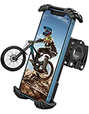 """Nulaxy H18 Bike Phone Mount, Bicycle Phone Holder - Handlebar Adjustable Motorcycle Cell Phone Mount Clamp, Compatible with Phone 12 / Phone 11 Pro Max, S9, S10, S20+ and More 4.7"""" - 6.8"""" Devices"""
