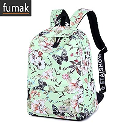 Laptop Backpack - Women Backpacks for Teenage Girls Floral Printed School Bags Travel Leisure Laptop Backpack