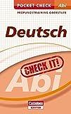 Pocket Check Abi Deutsch (Cornelsen Scriptor - Pocket Check)