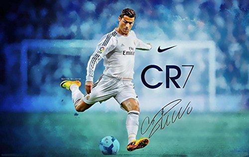 Cristiano Ronaldo Poster (Cristiano Ronaldo poster 36 inch x 24 inch / 20 inch x 13 inch)