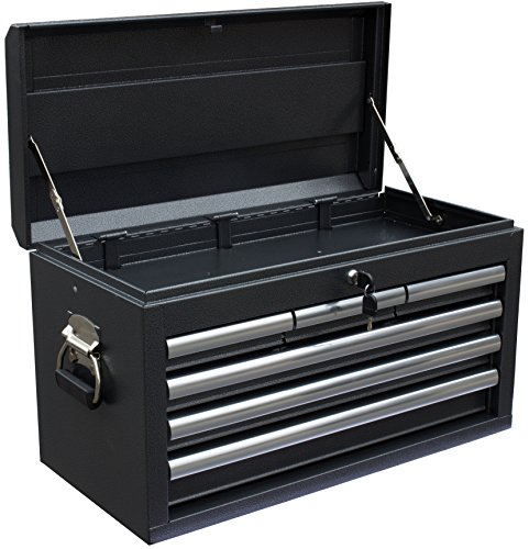 WEN 74706 26-Inch 6 Drawer Tool Chest, Silver/Black