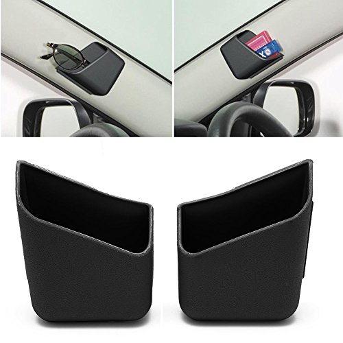 AMAZZANG-2X Universal Car Auto Accessories Glasses Organizer Storage Box Holder Black